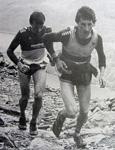 Kenny Stuart leading John Wild, Welsh 1000m Peaks